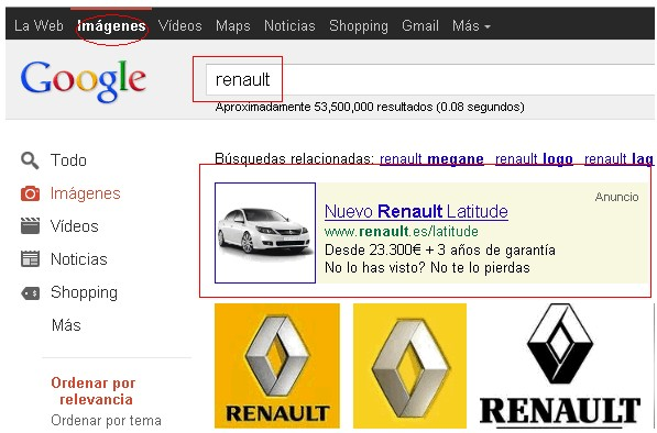 google image anuncio